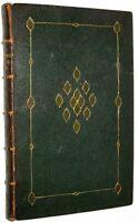 LEATHER;RALPH WALDO EMERSON; REPRESENTATIVE MEN! Plato Shakespeare Napoleon 1850