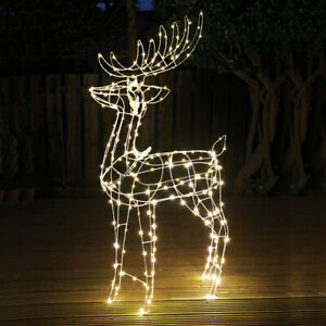 The Christmas Workshop Light-Up Reindeers / Outdoor Christmas Decorations
