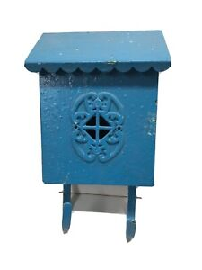 Vintage Wall Mount House Mailbox With Newspaper Hangers