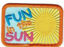 Girl Boy Cub FUN IN THE SUN Summer Patches Crests Badges SCOUTS GUIDE Outing day