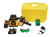 Spot-On Rotary Laser Level 500 Green - Self-levelling, Dual Grade, 0.5mm/10mm