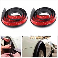 Pair 1.5Meter*5.5cm widen Big Size car rubber fender flare mudguard trim DIY