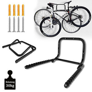 4X Fahrradwandhalter Halterung Schwarz Fahrrad Wandhaken Bike Ständer Garage