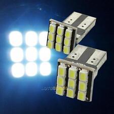 New 2PCS T10 194 168 W5W 9-SMD Car White LED Light DC 12V License Plate Lamp