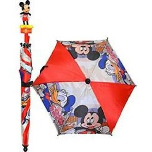 Disney Mickey Mouse Donald Duck Molded Handle Umbrella Perfect For Gifts New/tag