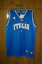 Italy National Team Champion Basketball Jersey Italia Blue Men Size M Medium