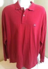 Vtg Polo Ralph Lauren Men's Long Sleeve Shirt Red Flag Logo Spellout XL FS!