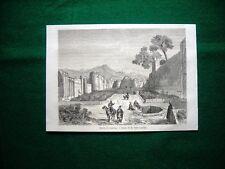 Gravure année 1860 entrée de Kaschan, Esfahan - ingresso Kaschan, Esfahan