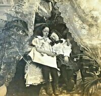 Antique Stereoview Photocard Photo Dead Girl Child Kid Post Mortem Bizarre
