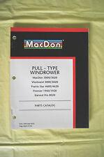 MacDon Windrower Westward Prairie Star Premier Harvest Pro parts catalog Canada
