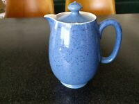 RARE ANTIQUE 1930s MOORCROFT POTTERY POWDER BLUE SPECKLED COFFEE POT