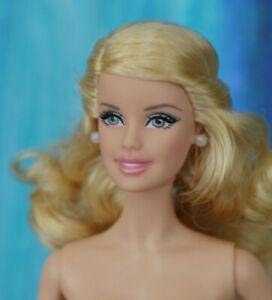 Nude Model Muse Barbie Blonde Curly Half Up Hair Grey Eyes CEO face NEW 4 OOAK