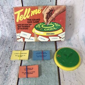 Vintage Spears Games Tell Me Quiz Game English / French 1960's Good condition