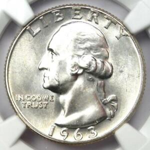 1963 Washington Quarter 25C - Certified NGC MS67 - Rare in MS67 - $1,200 Value!
