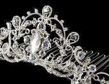 Silver or Gold Royal Princess Rhinestone Cinderella Bridal Comb Wedding Tiara
