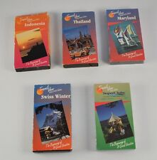 Lot of 5 Travel VHS Tapes Indonesia Thailand Maryland Swiss Winter Clubs  DD6B3