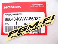 2x 86648-KWW-660ZC HONDA STICKER PGM-FI FUEK INJECTION T1 EMBLEM LOGO BLACK MARK