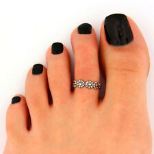 Ring Foot Jewelry Hot Celebrity Simple Retro Flower Design Adjustable Toe
