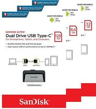 New SanDisk OTG Ultra Dual Drive 32GB 64GB 128GB Type-C USB 3.1 Flash Memory