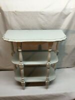 Vintage 3 Tier Shabby White   Large Wood  Plant Stand Side Table