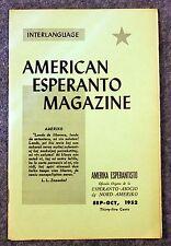 1952 AMERICAN ESPERANTO MAGAZINE Language STUDY History INTERLANGUAGE Amerika