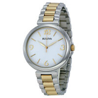 Bulova Women's Quartz Two Tone Stainless Steel Bracelet 38mm Watch 98L194