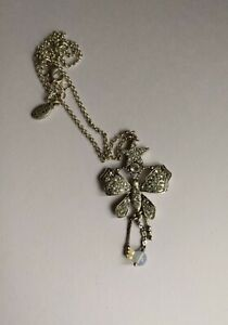 Pilgrim Butterfly And Star Crystal Necklace