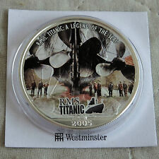 2005 TITANIC COLOURED 1oz .999 SILVER EAGLE DOLLAR WITH COA - giant propellers