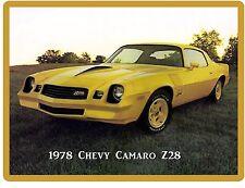 1978 Chevy Camaro Z28  Auto Refrigerator / Tool Box Magnet