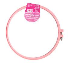 Susan Bates Pink Embroidery Hoop & Frame 8 Inch