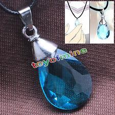 Sword Art Online SAO Kirito / Asuna's/ Yui Cosplay Light blue Crystal Necklace