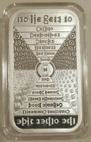 1oz SSG Silver Shield's Pyramid Proof No Lie Silver Bar #31 Conscientia Series