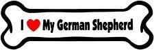 I Heart My German Shepherd Bone Window Vinyl Decal Sticker (Any Color)
