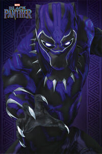 """Black Panther - Marvel Movie Poster / Print (Glow) (Size: 24"""" X 36"""")"""