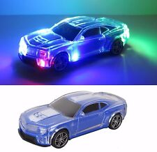 """Blue Sports Car w/ Colorful Changing Lights Music Drives - 8.5"""" L New"""