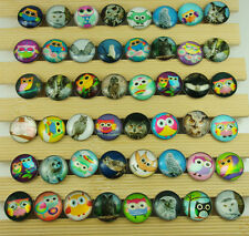 10pcs mixes Alloy Chunks Snap Button charm wholesale for noosa owl series c7