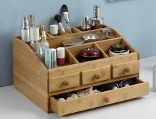 Wooden Tabletop Makeup Organizer for Lipstick Perfume Nail Polish Holders