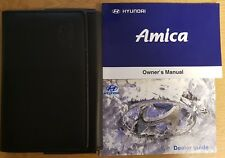 HYUNDAI AMICAZ OWNERS MANUAL HANDBOOK WALLET 2003-2006 PACK B-195