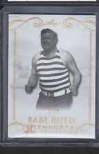 2017 LEAF IMMORTAL COLLECTION BABE RUTH 3/10 JERSEY NUMBER