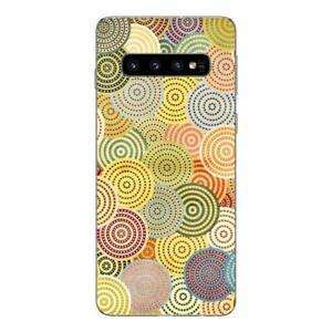 Samsung Galaxy S10 Coque fantaisie gel souple et solide ( Rond colorés )