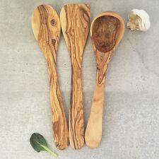 Set Cuillère Spatule Louche en Bois d'Olivier / Ustensiles de cuisine en Bois