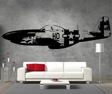 P51 Mustang Vinyl Sticker Wall Art Boys Bedroom Garage