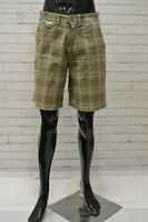Bermuda YELL Uomo Taglia Size 30 Pantalone Shorts Jeans Pants Man Cotone Quadri
