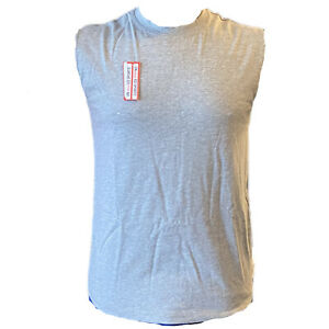 MENS VESTS 100% Cotton Sleeveless TOP SUMMER TRAINING GYM TOPS PLAIN Unbranded