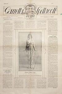 Gazzetta degli Spettacoli  N. 1 - Bianca Masini Papi - 1923