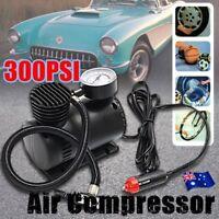 300PSI 12V AIR Compressor Pump Tyre Inflator Electric BICYCLE BALL BIKE mC