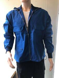 Swedish Blue Lightweight Work Jacket Shirt Army Military Surplus