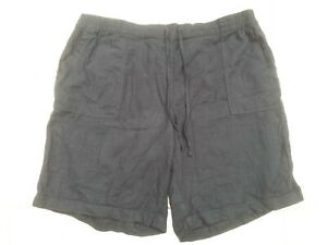 BNWT Next Ladies Size 18 Black Linen Rich Shorts Summer Curve Fashion New Plus
