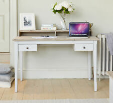 Benson Grey Painted Solid Wood Furniture Desk Dressing Table With Drawers