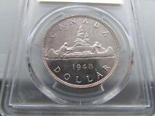Canada 1948 Silver Dollar PCGS Unc Details